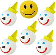 Tenna Tops Jack in The Box Original Car Antenna Ball/Antenna Topper/Mirror Dangler/Desktop Spring Stand (Pack of 5) Happy Face Ball