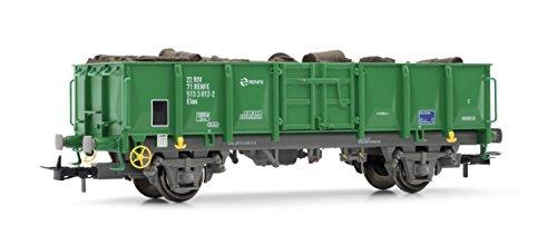 Electrotren E1262 Offener Güterwagen Elos der RENFE mit Holzstämmen Modellbahn, Grün