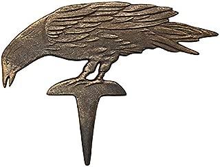 Design Toscano Mystic Raven Cast Iron Garden Stakes: Head Down - Raven Figure - Crow Garden Stake