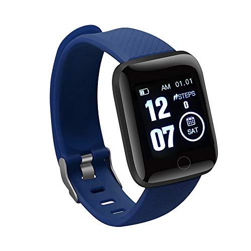 YOUANG Reloj Inteligente Pulsera con Rastreador de Actividad Y Monitor de Pérdida de Sangre Reloj Inteligente IP65 Resistente Al Agua para Mujeres Y Hombres