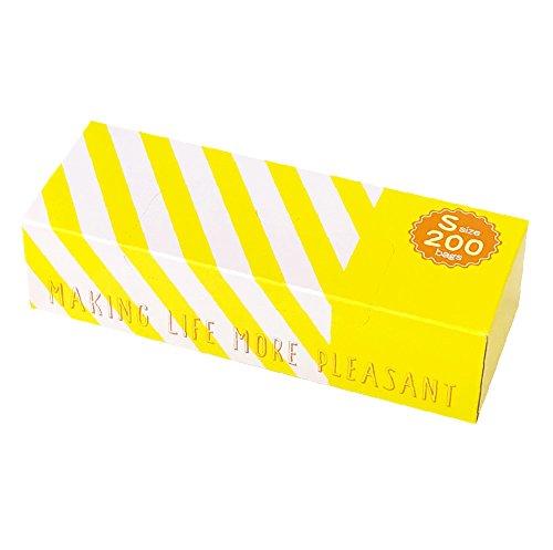 驚異の防臭袋 BOS (ボス) ★ストライプパッケージ /クリームイエロー★Sサイズ200枚入 赤ちゃん用 おむつ ・ ペット うんち ・ 生ゴミ ・ サニタリー などの処理に