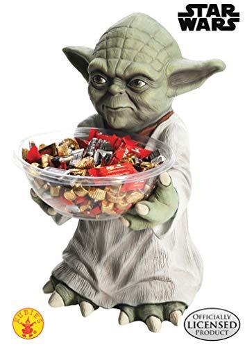 Halbstatue in Form von Yoda, die eine durchsichtige Schüssel hält. Die Höhe der Statue beträgt ca 40 cm.