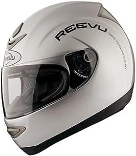 Reevu MSX1 Rear-View Motorcycle Helmet Silver Metallic (L)