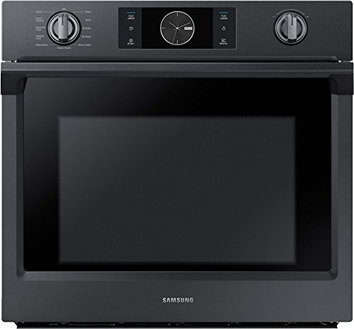 Samsung Appliance NV51K7770SG 30' 5.1 cu. ft. Total Capacity Electric Single Wall Oven with Top Broiler, in Black Stainless Steel