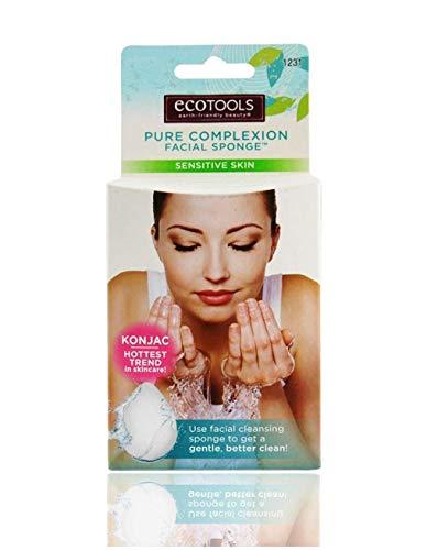 EcoTools Pure Complexion Facial Sponge - Sensitive Skin - White - Case of 12 Pieces