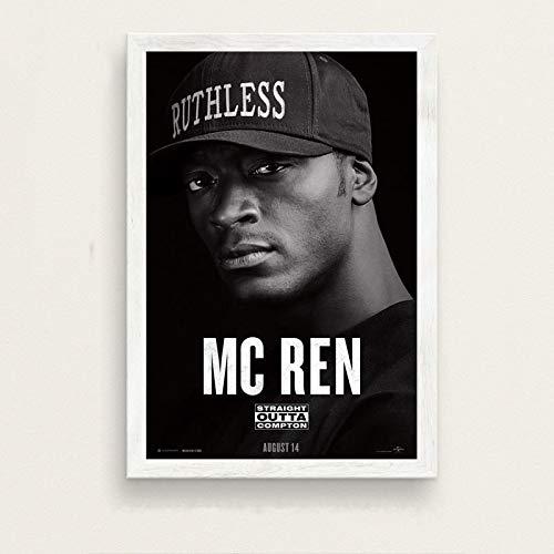 Weiteng Hip Hop Music Rap Star NWA Straight Outta Compton HD Lienzo Poster Arte de la Pared Home Room Living Decor 50x70 cm (19.68x27.55 in) A-162