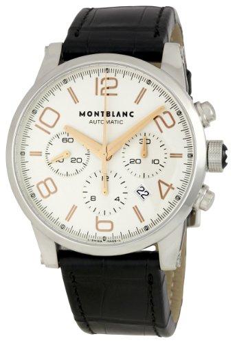 Montblanc 101549 - Reloj para Hombres, Correa de Cuero Color Negro