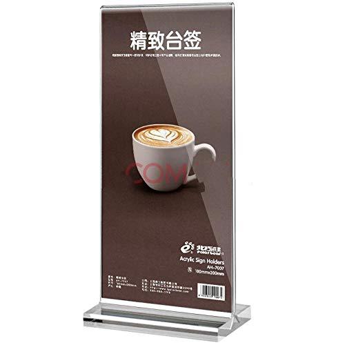 FGDH&SDF 10 stücke t-typ taiwan zeichen vertikale kartenhalter grafikkarte tabelle menü tabelle karte, 100 * 200mm