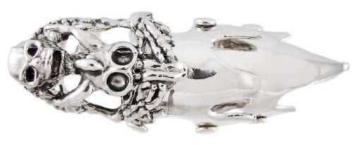 Zeckos Western Steer Skull Full Finger Armor Ring 4 in. Long Goth