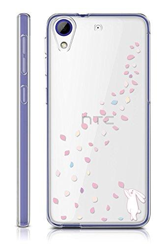 Sunrive HTC Desire 650/628 / 626 / 626G Hülle Silikon, Transparent Handyhülle Schutzhülle Etui Hülle Backcover für HTC Desire 650/628 / 626 / 626G(TPU Hase)+Gratis Universal Eingabestift