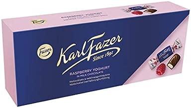 Karl Fazer Raspberry Yoghurt in milk chocolate - Finnish - Chocolates - Pralines - Candies - Box 270g (9.52oz)