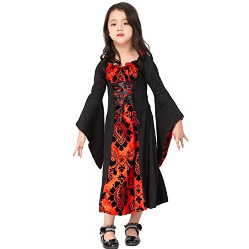 CNLINAHOME Disfraz Medieval Disfraces de Halloween para niños Bruja Vampiro Cosplay...