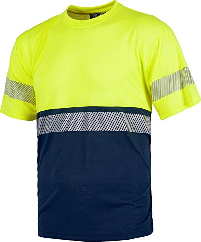 Work Team Camiseta combinada de Manga Corta en poliéster. R