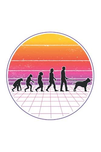 Presa Canario Tagesplaner: Presa Canario Evolution Vaporwave Dogo Canario / Kalender 2022...
