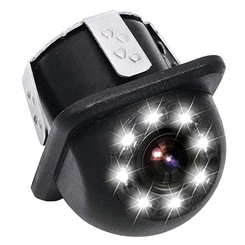 Telecamera Posteriore per Auto,Cappello di Paglia Piccolo con Telecamera per Auto a 8 Luci Telecamera per Cappello di Paglia Piccolo con Telecamera per Retrovisione a 8 LED