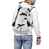 dojeep Pet Dog Carrier Backpack for Dog, Adjustable Pet Backpack Cat Dog Carriers Backpack Travel Bag, Breathable Mesh Pet Supplies Backpacks for Dogs Cats (Medium, Gray)
