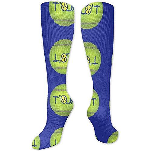 Benutzerdefinierte Tennisball personalisierte Muster hohe Socken für Männer und Frauen am besten Laufen Reisen Radfahren