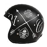 Uomini Classic 3/4 Open Face Helmet Cruiser Bike Stile Jet Helmet Per Adulti e Vintage BikeS Sicurezza Casco donna Classic Electric Motorbike Safety Caps