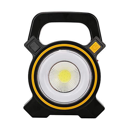 XMAGG Luz de Trabajo, Lámpara de Camping, Luz de Camping Recargable Solar con Abrazadera con Iluminación Led Exterior Iluminación, para Casa Auto Camping Emergencia Reparacion