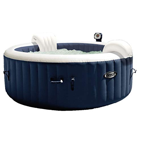 Intex Pure Spa Inflatable Hot Tub Set w/ 6 Filter Cartridges and Accessories