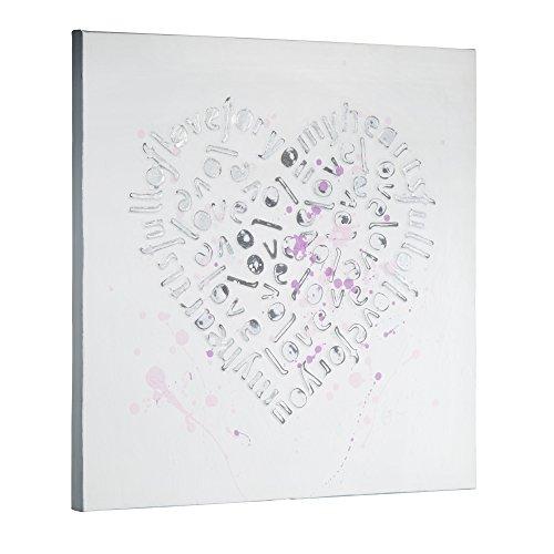miaVILLA 3D Effekt Leinwand Bild auf Keilrahmen Love Kunstdrucke Herz Wandbilder
