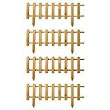 Floranica® Stecca Recinzione in Legno | Versione Nuova 2021 | recinto per Giardino | per orto | Prato | Cortile - impregnata, Colore:Naturale, Taglia:4 pz. 104cm Lungo / 40cm Altezza