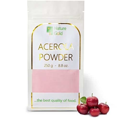 ACEROLA poudre | Vitamine C Acerola Extrait | 250g 8.8oz | 100% naturel et sans sucre | .boostez votre immunité naturelle ~*~
