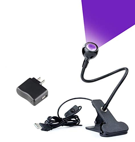 LED Blacklight, Gooseneck Lamp with Clamp, UV Blacklight Fixture for Stain Detection, Black Light lamp for Blacklight Posters, Blacklight Party, Art – Ultraviolet Curing, Great for Fluorescent Paint