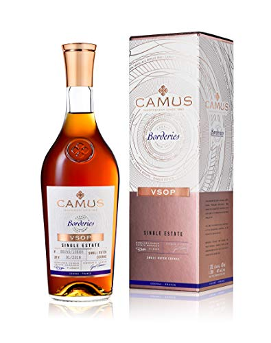 Camus VSOP Borderies Cognac mit Geschenkverpackung - Limited Edition Single Cru - 70cl 40° - Familienbesitz seit 1863