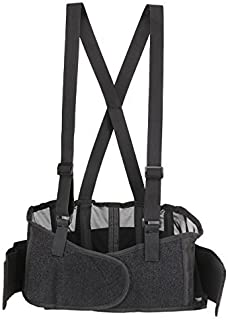 Back Brace Lumbar Support with Adjustable Suspenders, Hook-and-Loop fastener for Easy and Quick Fastening, High Quality Breathable Back Panel made with Spandex Material, Removable Straps. (Size L)
