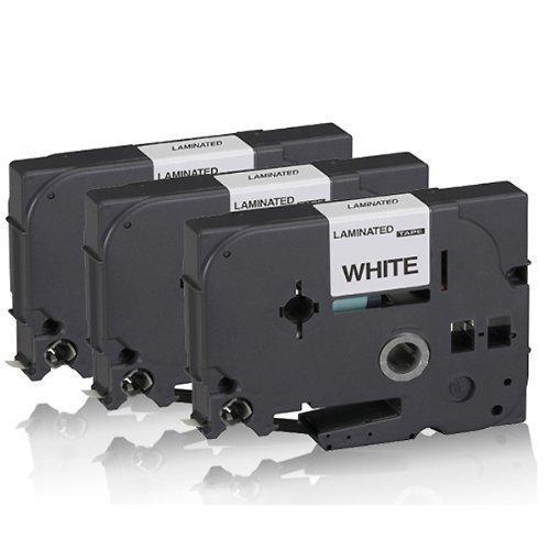 3x Schriftband kompatibel für Brother TZE231 P-Touch E100 P-Touch E100VP GL100 GL1000 GL200 1000 1000BTS 1000F 1005BTS 1200 1200P 1230PC 1250 1250J 1250LB 1250S 1250VP 1250VPS 1260VP TZE-231 Schwarz-Weiß S-WSchwarz auf Weiß