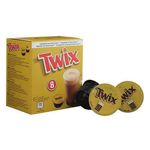 Twix Pods Getränkepulver, Kakaogetränk, Schokogetränk, Twix Riegel, Dolce Gusto kompatibel, Kaffeekapseln, 8 Kapseln