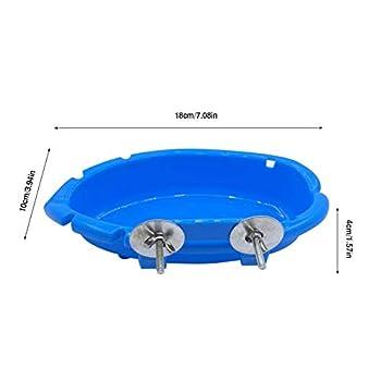 Baignoire pour oiseaux - Cage de perroquet suspendue boîte de bain en plastique bol alimentaire pour petite perruche cockatiel Conure inséparable pinson perruche
