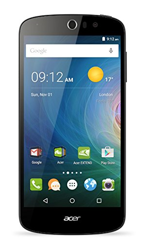 Acer Liquid Z530 Dual-SIM LTE Smartphone (12,7 cm (5 Zoll) IPS HD Zero-Air-Gap Display, 1280 x 720 Pixel, Quad-Core-Prozessor, 8 Megapixel, 1GB RAM, 8GB Speicher, Android 5.1)  schwarz