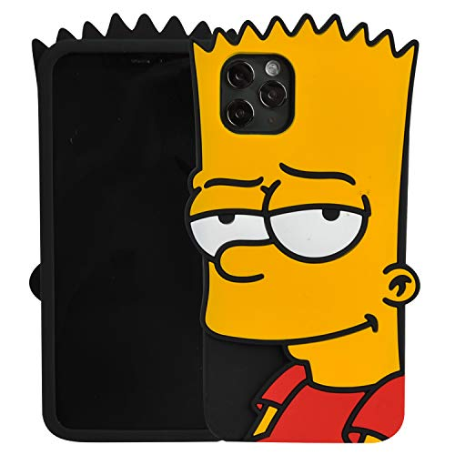 Phenix Color Cartoon Case for iPhone 11 Pro Max 6.5', 3D Cute Soft Silicone Rubber Protective Gel Back Cover for Kids Girls (Bart Simpson, iPhone 11 Pro Max 6.5')