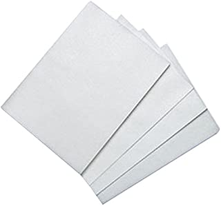 100 Count Edible Rectangle Wafer Paper, 8 by 11-Inch, White