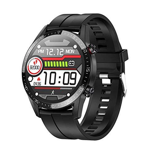 JIAJBG Moda L13 Reloj Elegante, Ip68 a Prueba de Agua Inteligente Bluetooth Pulsera Ecg + Ppg Heart Rate Measure Smartwatch, para Android 5.0 Y Superiores Y Ios8.0 Y por Encima Sé d