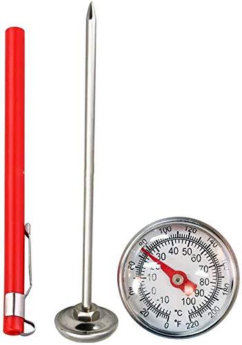Pkfinrd 127Mm Celsius Multifunctionele RVS Meetwijzerplaat Display Draagbare Thermometer Keukengereedschap Compost Bodem Lichtgewicht