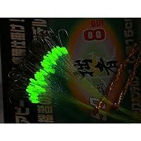 SESSYA 拙者競技モデル50本糸付き鈎 ケイムララメ糸&夜光塗 byがまかつ シロギスファイン 8号 (4549018119305)