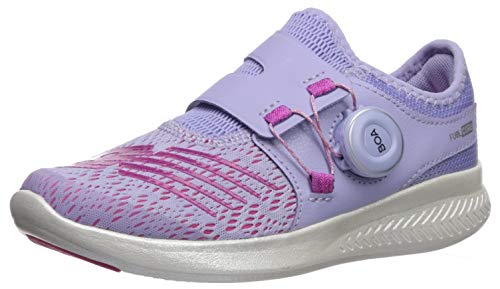 New Balance Girls' Reveal V1 Running Shoe, Clear Amethyst/Carnival, 12.5 M US Little Kid