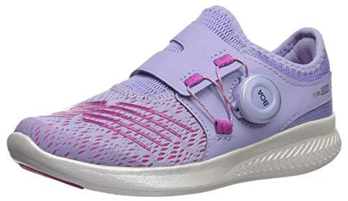 New Balance Girls' Reveal V1 Running Shoe, Clear Amethyst/Carnival, 12.5 M US Little Kid