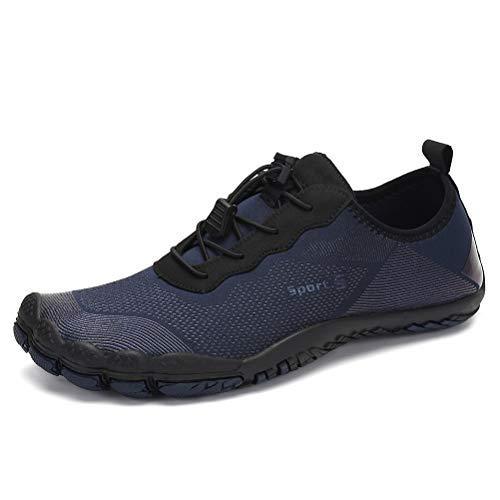 Dannto Hombre Mujer Zapatos de Agua para Hombre Surf Escarpines Playa Natación Respirable Antideslizante Playa Natación Aire Libre Zapatos de Agua para Vela,Kayak,Buceo(Azul-C,42)