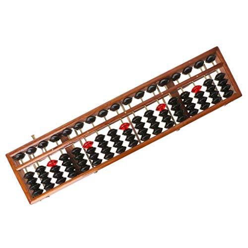 Viesky 17 Ziffern Holz Soroban Standard Abacus Chinesischer Taschenrechner Zählen Mathematik Lernwerkzeug Anfänger