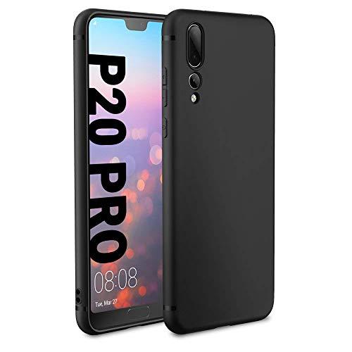 Huawei P20 Pro Hülle Case, EasyAcc Schwarz TPU Telefonhülle Matte Oberfläche Handyhülle Schutzhülle Schmaler Telefonschutz für das Huawei P20 Pro