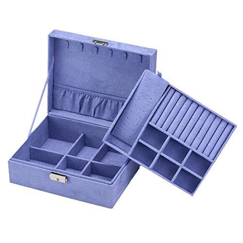 YuoungYuan Cajas para Joyas Organizador Joyas Cajas de joyera para nias Cajas de baratijas para Mujer Chicas, Caja de joyera Gran Caja de joyera Purple,One Size