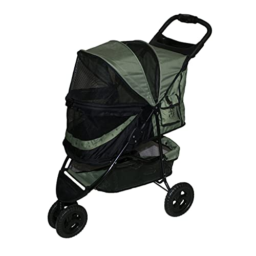 Pet Gear No-Zip Special Edition 3 Wheel Pet Stroller for Cats/Dogs, Zipperless Entry, Easy One-Hand Fold, Removable Liner