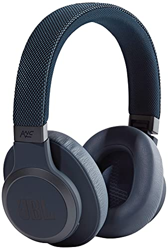 JBL LIVE 650BTNC Wireless Over-Ear Noise-Cancelling Headphones with Alexa built-in, Google Assistant and Bluetooth – Up to 30 hours of music – Blue
