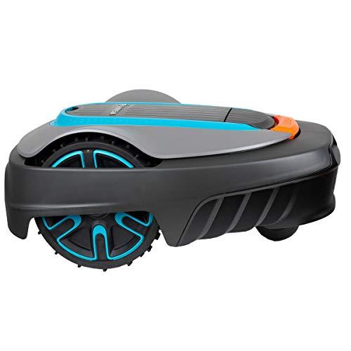 GARDENA SILENO city 250   Tondeuse Robot jusqu'à 250m² - Tond sous la pluie et passages étroits, Bluetooth App, Capteur de Gel, Très silencieux, Automatique - Robot de Tonte Pelouse (15001-26)