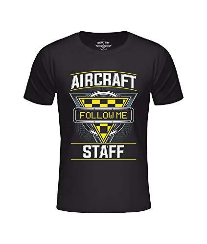 T-shirt AC Follow ME zwart, vliegtuig, luchtvaart, aviatie