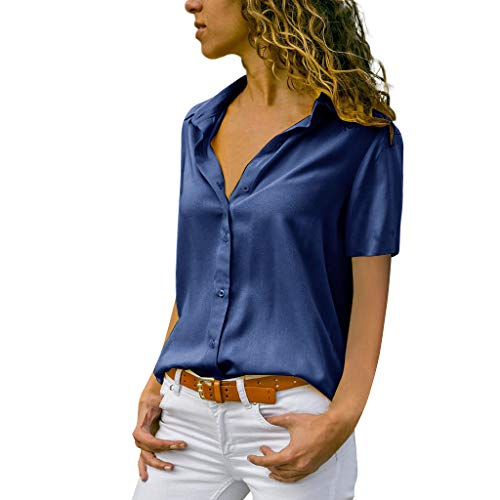 MRULIC Damen Shirt Tie-Bow Neck Striped Langarm Spleiß Bluse Gestreift Damen Tragen Tops Pullover(C-Marineblau,EU-38/CN-M)